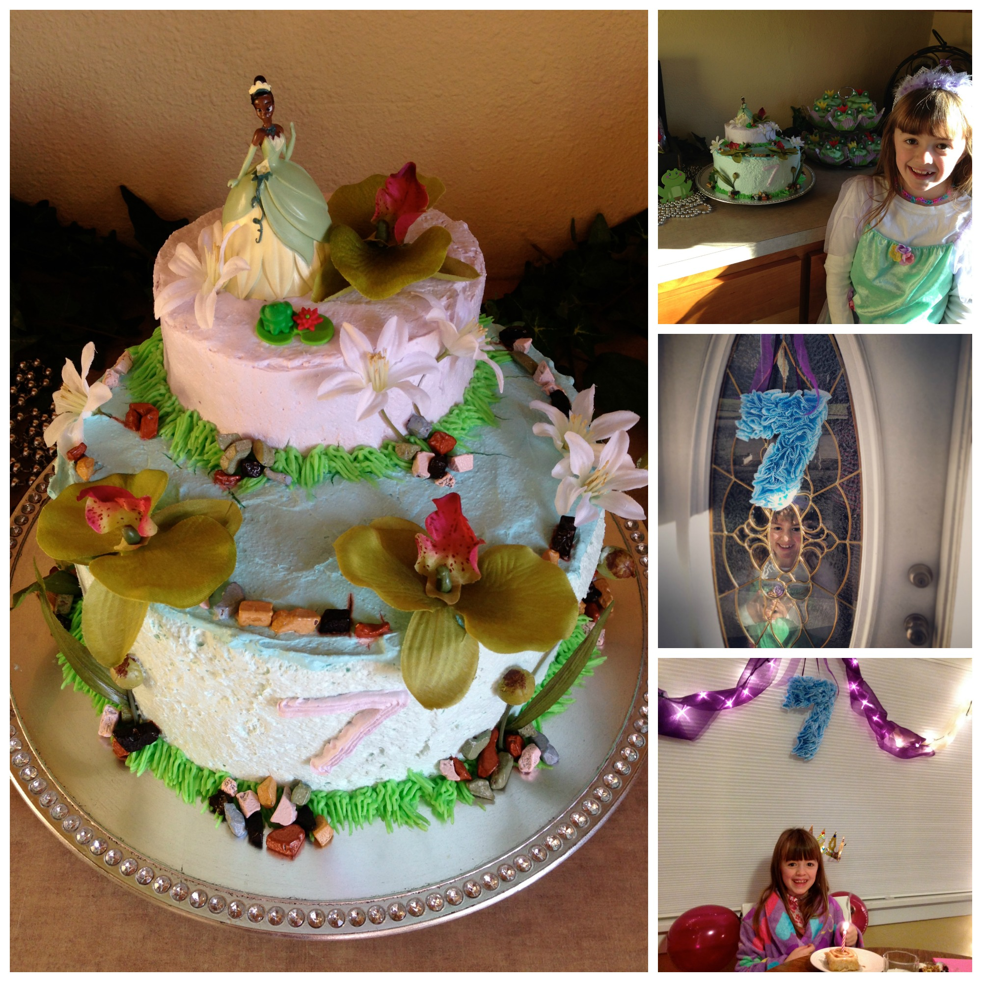 7th birthday party collage