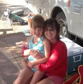 mom & Jenna camping