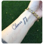 choose joy tattoo